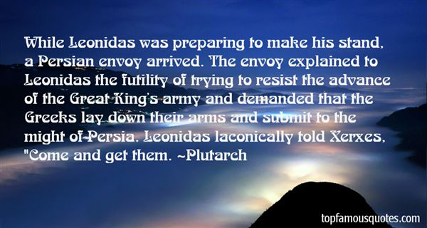 Quotes About Leonidas