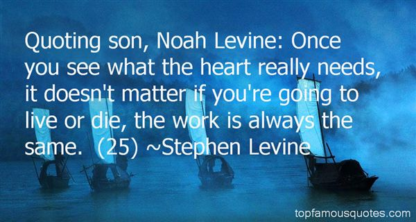 Quotes About Levine