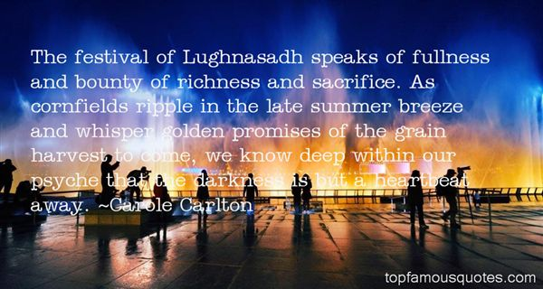 Quotes About Lughnasadh