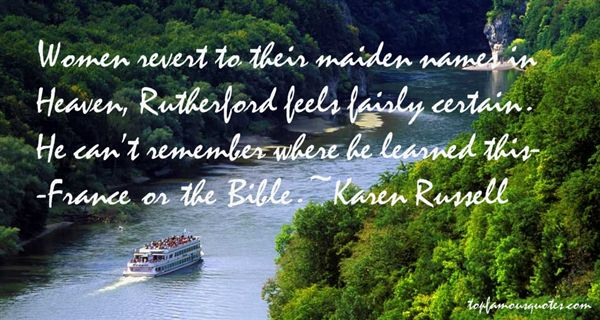 Quotes About Maiden Names
