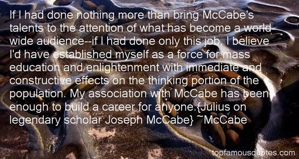 Quotes About Mccabe