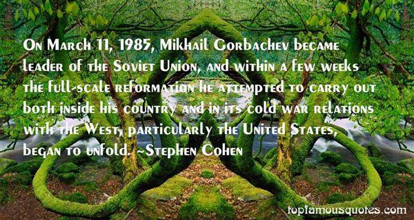Quotes About Mikhail Gorbachev