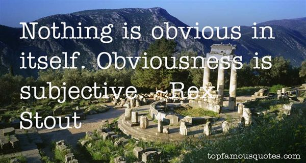 Quotes About Obviousness