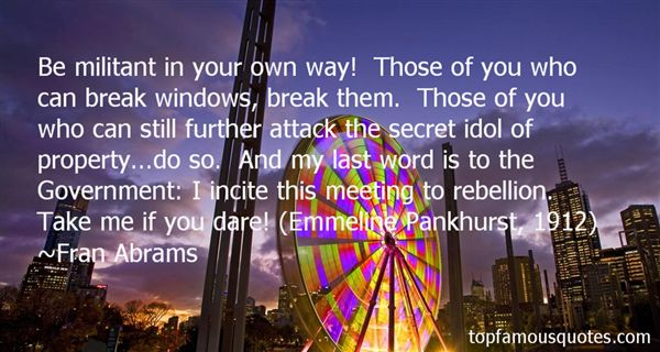 Quotes About Pankhurst
