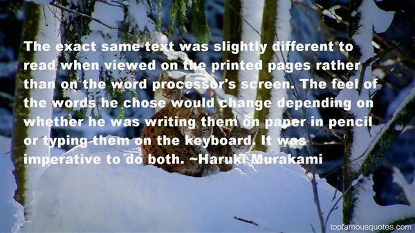 Quotes About Printed Word