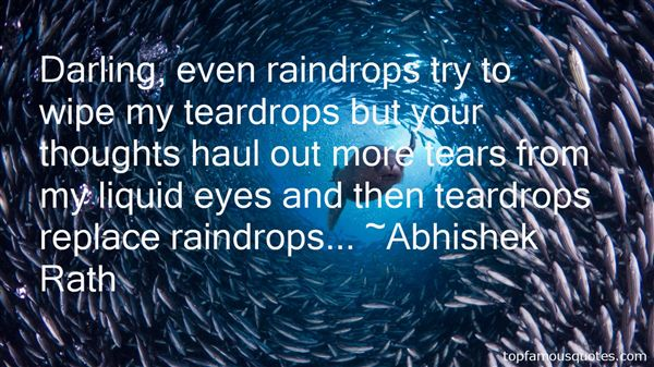 Quotes About Raindrops