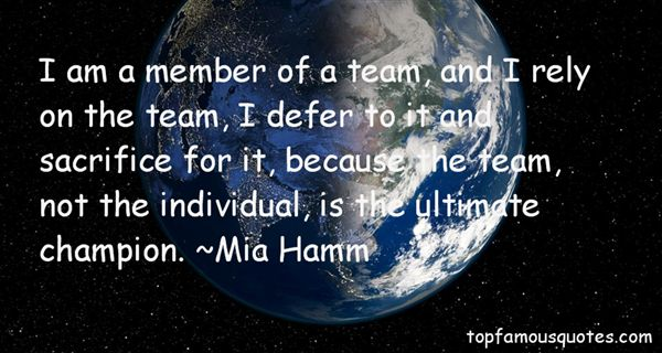 Quotes About Sacrifice For The Team