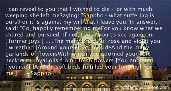 Quotes About Sappho