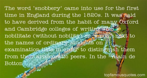 Quotes About Snobbery