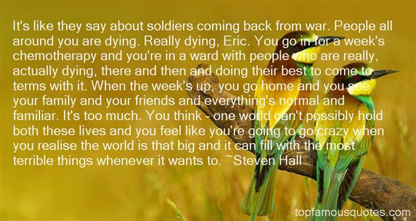 Soldiers Coming Home Quotes: Best 1 Famous Quotes About