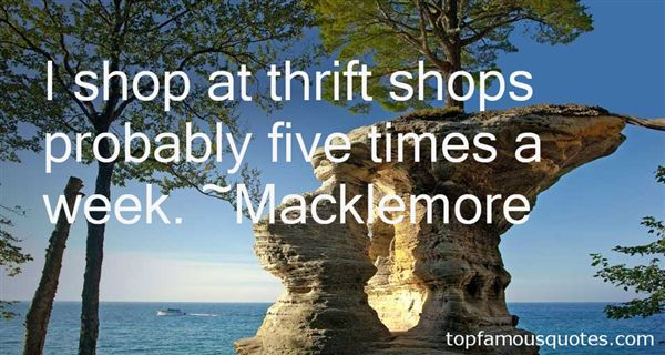 Quotes About Thrift Shops