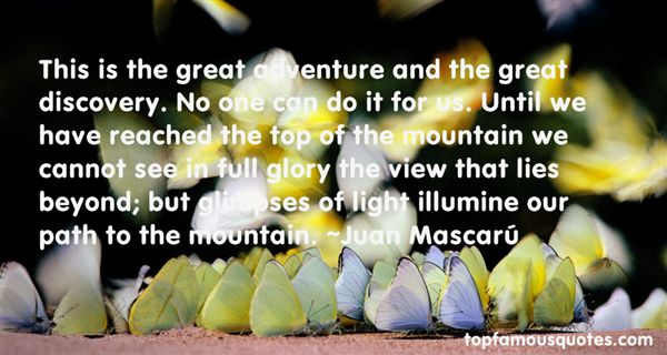 Quotes About Top Of The Mountain