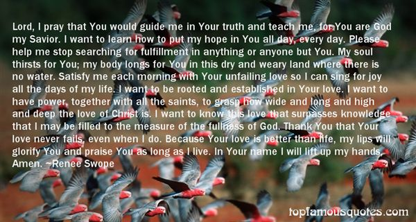 Quotes About Unfailing Love Of God