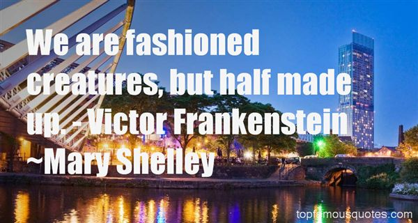Quotes About Victor Frankenstein