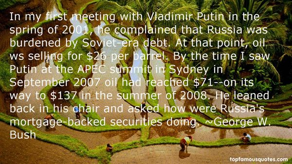 Quotes About Vladimir Putin