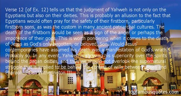 Quotes About Yahweh