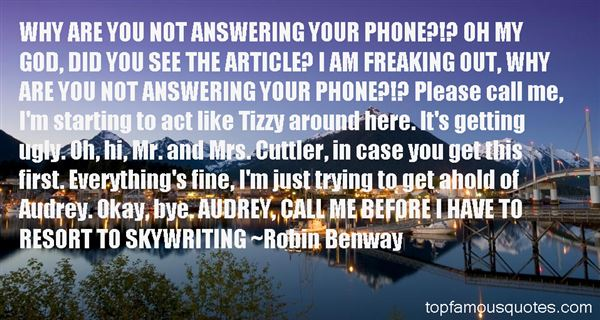 Quotes About Answering The Phone