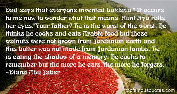 Quotes About Arabic Food