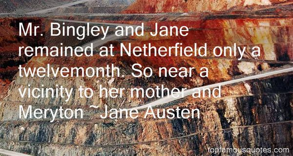 Quotes About Bingley