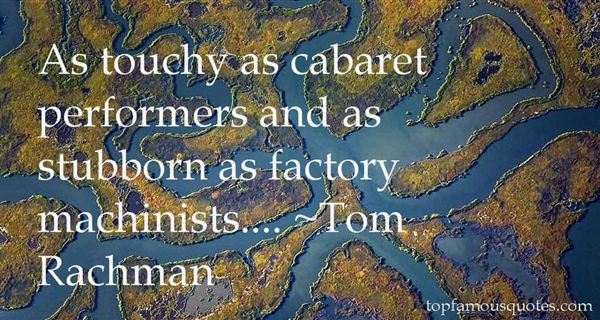 Quotes About Cabaret