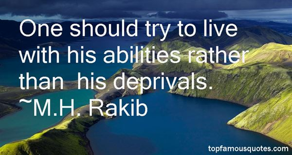 Quotes About Deprivals
