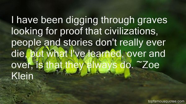 Quotes About Digging Graves
