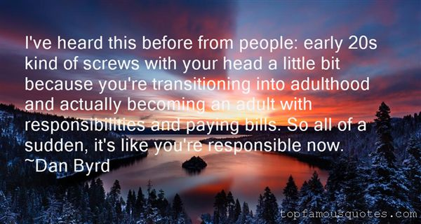 Quotes About Early Adulthood