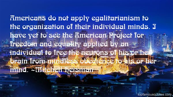 Quotes About Egalitarianism