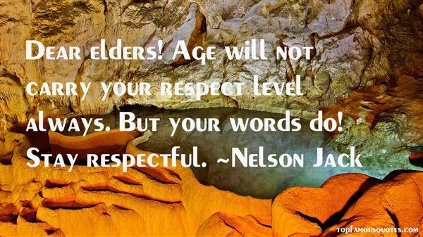 Elders Respect Quotes Best 3 Famous Quotes About Elders Respect