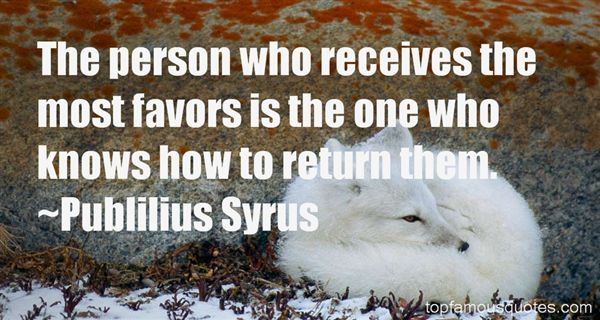 Quotes About Favors Return