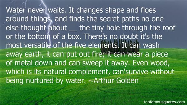 Quotes About Five Elements