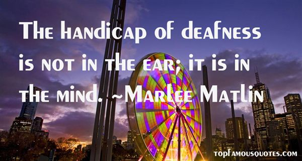 Quotes About Handicap