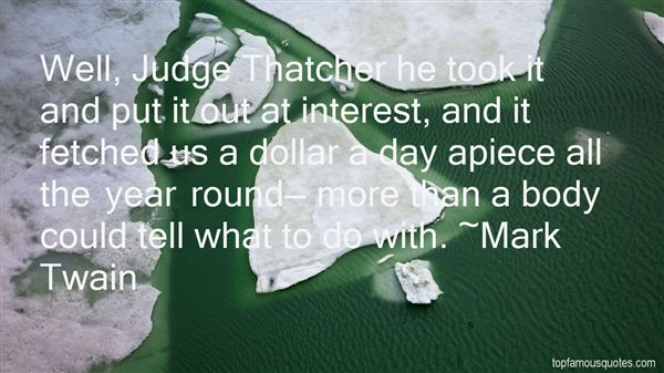 Quotes About Judge Thatcher