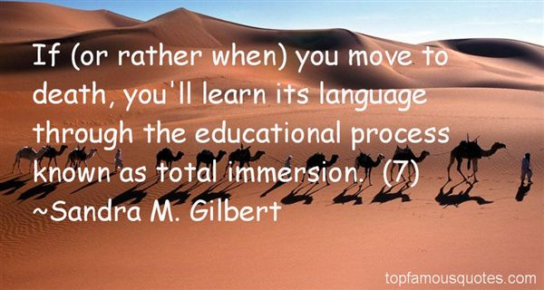 Quotes About Language Immersion