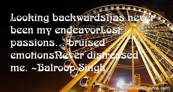 Quotes About Looking Backwards