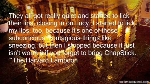 Quotes About Losing Chapstick