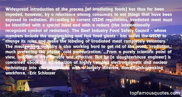 Quotes About Meat Industry