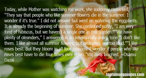 Quotes About Oleander