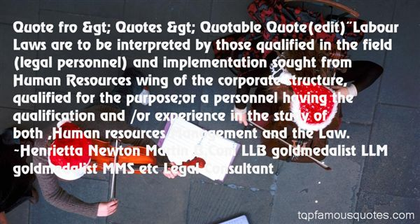 Quotes About Personnel Management