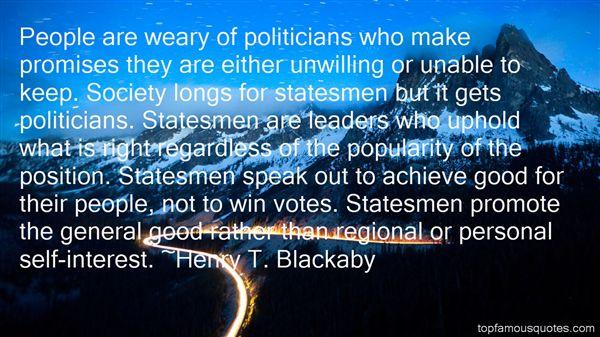Quotes About Politicians Promises