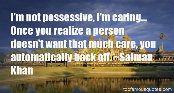 Quotes About Possessive Person