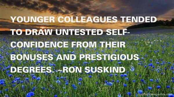 Quotes About Prestigious