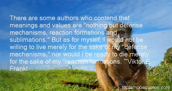 Quotes About Reaction Formation