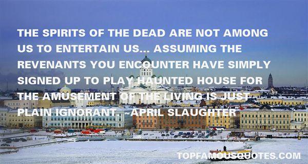 Quotes About Revenants