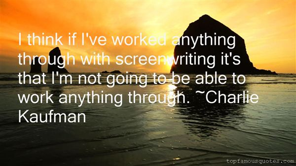 Quotes About Screenwriting