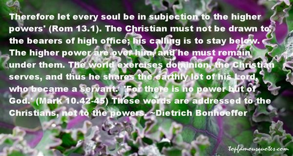 Quotes About Subjection