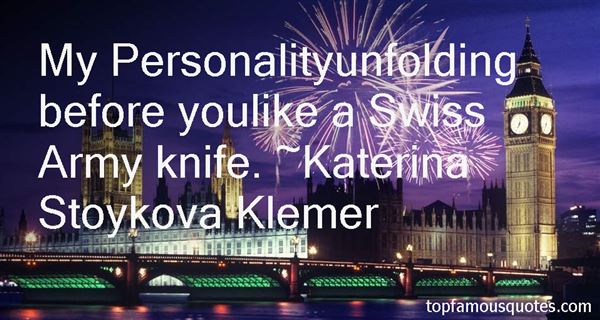Quotes About Swiss Army Knife