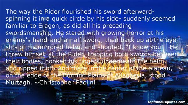 Quotes About Swordsmanship