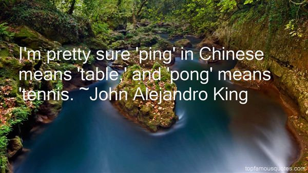 Quotes About Table Tennis