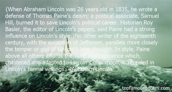 Quotes About Thomas Paine